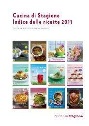 Cucina di Stagione Indice delle ricette 2011