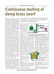 Damp brass chip melting - Bebbcon