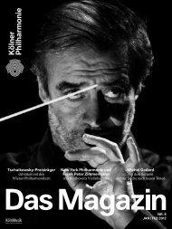 Das Magazin 01/02 2012 - Kölner Philharmonie