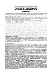 Regolamento Campi 2013 - Azione Cattolica Bologna