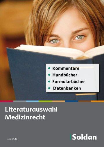 Literaturauswahl Medizinrecht