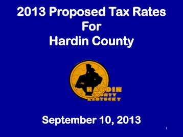 2013 Tax Rate - Hardin County Government