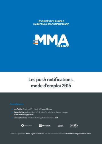 Les push notifications, mode d'emploi 2015