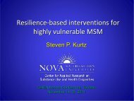 Resilience-based interventions for highly vulnerable MSM.