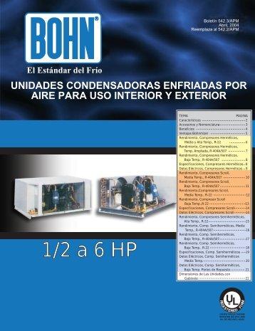 1/2 a 6 HP - Bohn