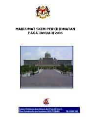 MAKLUMAT SKIM PERKHIDMATAN PADA JANUARI 2005