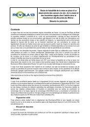 Résumé du protocole de l'étude - ARS Paca