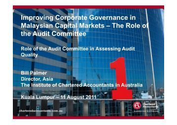 Improving Corporate Governance in Malaysian Capital Markets – The ...