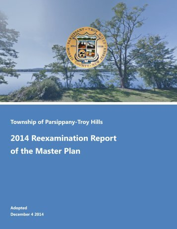 Master Plan Reexamination Report - Township of Parsippany
