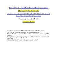 HTT 220 Week 4 CheckPoint Internet-Based Transactions /Uophelp