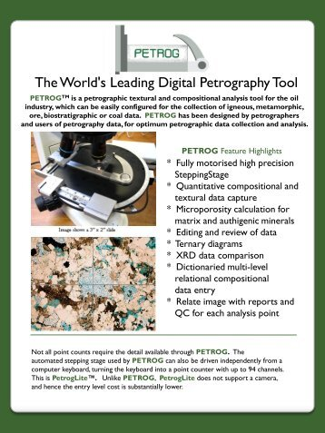 The World's Leading Digital Petrography Tool