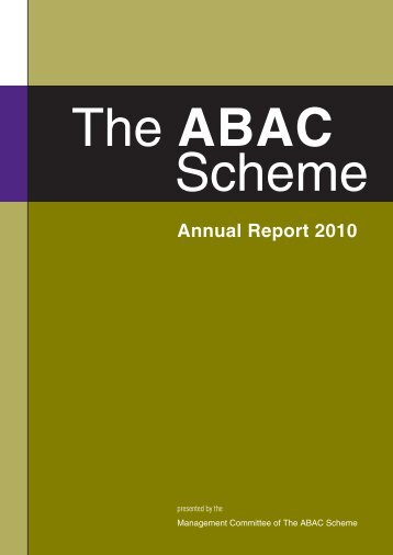 Annual Report 2010 - The Alcohol Beverages Advertising Code ...