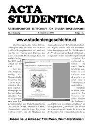 Wien - Österreichischer Verein für Studentengeschichte