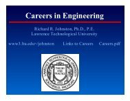 Careers in Engineering - Lawrence Technological University