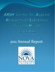 Center for Applied Research on Substance Use and Health Disparities