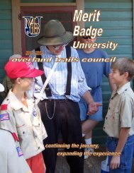 The Overland Trails Council, Boy Scouts of America is excited