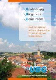 UBG-Wählerinfo - Unabhängige Bürger Güntersleben