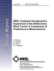 A Comparison of Predictions to Measurements - NREL