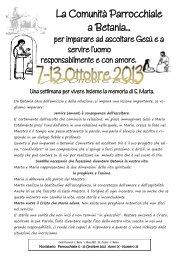 Visualizza gli avvisi .pdf - Parrocchia di S. Maria Madre della Chiesa ...