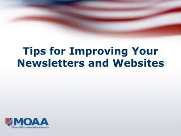 Tips for Improving Your Newsletters and Websites