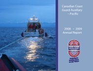 Annual Report 2008-09 - Canadian Coast Guard Auxiliary - Pacific ...