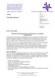 Daphne III-Programm zum Schutz von Kindern ... - Europa Aktuell