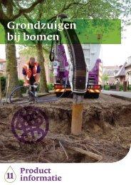 Grondzuigen bij bomen - Nationale Bomenbank