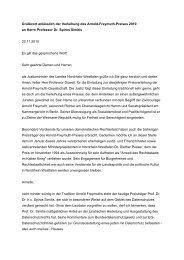 Grußwort anlässlich der Verleihung des Arnold-Freymuth-Preises ...