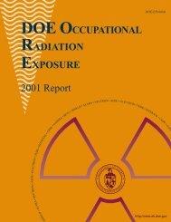 DOE Occupational Radiation Exposure, 2001 Report