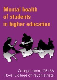 Mental health of students in higher education - Royal College of ...