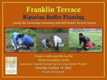 Franklin Terrace Slideshow Oct 2013 - Lancaster County Conservancy