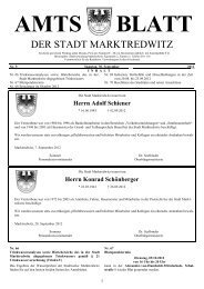 Herrn Adolf Schiener - Stadt Marktredwitz
