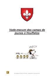 Vade-mecum des camps de jeunes à Houffalize - PSSP