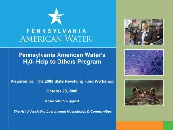 Pennsylvania American Water's H2 0- Help to Others Program