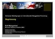 Begrüssung Weingartner - Akademien Schweiz