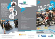 Flyer Elektro-Rollstuhl-Sport - E-Hockey-Homepage