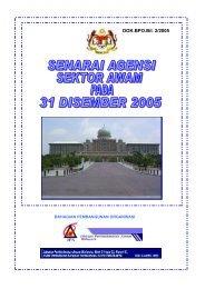 Senarai Agensi Pada 31 Disember 2005 tiada diluar saraan
