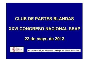 CLUB DE PARTES BLANDAS XXVI CONGRESO NACIONAL SEAP ...