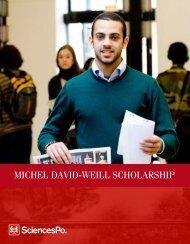MICHEL DAVID-WEILL SCHOLARSHIP - Sciences Po
