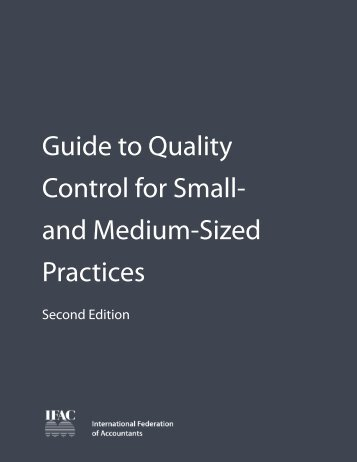 Guide to Quality Control for Small- and Medium-Sized Practices