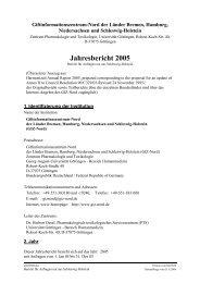 Jahresbericht 2005 Schleswig-Holstein - Giftinformationszentrum-Nord