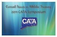 2011 CATA Symposium - The Connecticut Athletic Trainers ...