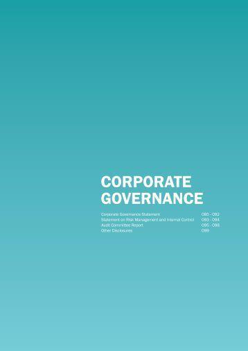 Corporate GovernanCe - Gamuda Berhad - Investor Relations