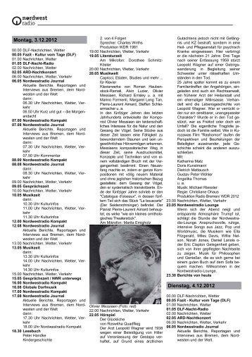 PDF, 135 Kb - Radio Bremen