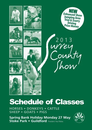Livestock Schedule 2013 - Surrey County Agricultural Society