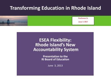 c. Brief Overview of Rhode Island's New Accountability System