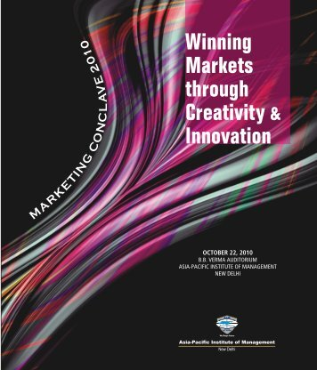 Marketing Conclave brochure - Asia Pacific Institute of Management