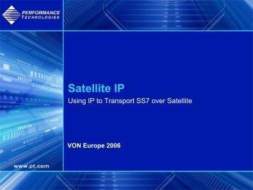 Using IP to Transport SS7 over Satellite - Moderntech.com.hk