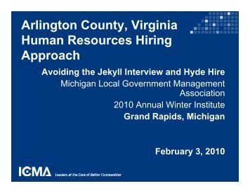 Avoiding the Jekyll Interview and Hyde Hire - Michigan Local ...