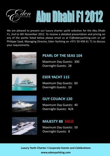 pearl of the seas 104 eser yacht 115 guy couach 120 majesty 88 sold